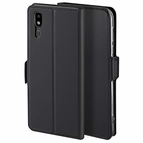 HoneyCase für Handyhülle Samsung Galaxy A2 Core Hülle Premium Leder Flip Schutzhülle für Samsung Galaxy A2 Core Tasche, Schwarz