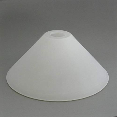 Glaslampenschirm Kegel D. 30 cm für E27 Fassung in matt weiß
