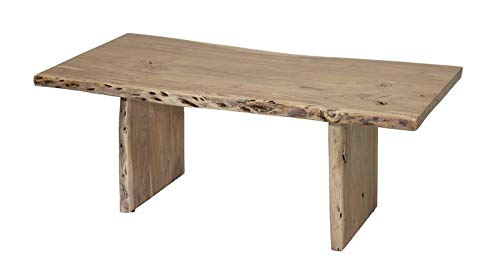 Table basse 120x60cm - Bois massif d'acacia laqué - Design naturel - PURE ACACIA #307