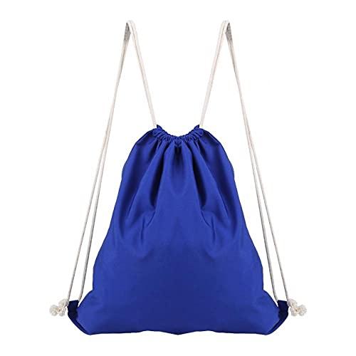Mochila de cuerdas práctica plegable fácil de llevar Nuevo para picnics escolares(sapphire)