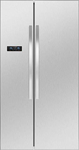 Bomann SBS 7323.1 IX Side-by-Side Kühl- und Gefrierkombi / 580 Liter Nutzinhalt / 179.3 cm Höhe / 265 kWh/Jahr/Kühlen 372 Liter/Gefrieren 208 Liter/Edelstahl-Optik