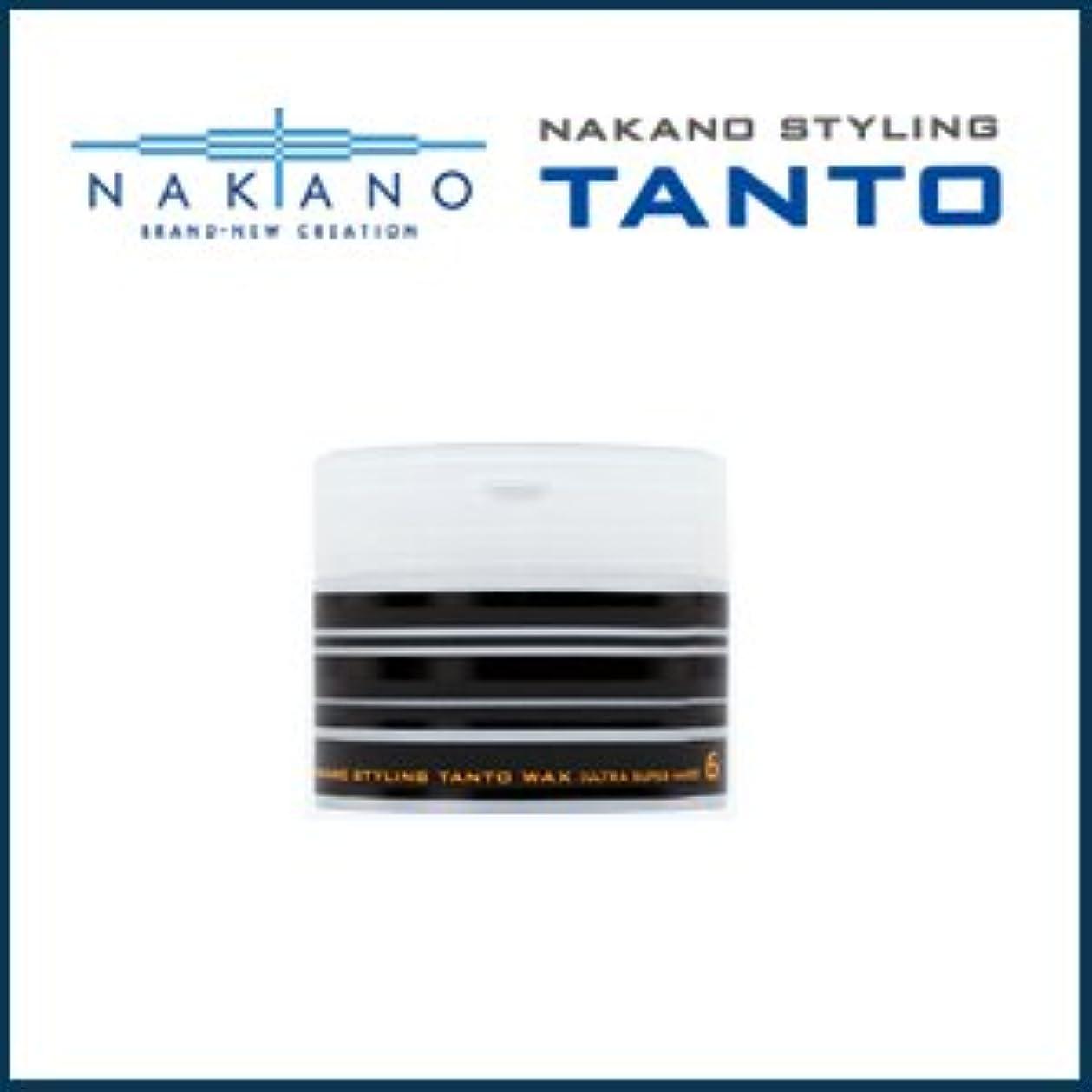 テンポ会社お父さん【X3個セット】 ナカノ タント Nワックス 6 ウルトラスーパーハード 90g 容器入り