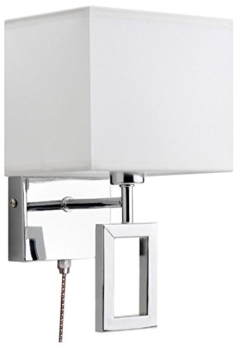 Mathias 3311809 Applique Medhi Chrome/blanc L17 H26, Métal, E14, 40 W