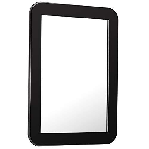 Savita Magneetspiegel, 5 1/4 x 6 7/8 inch, ideaal voor schoolvakjes, badkamer, koelkast, werkplaats of kantoorkast (zwart)