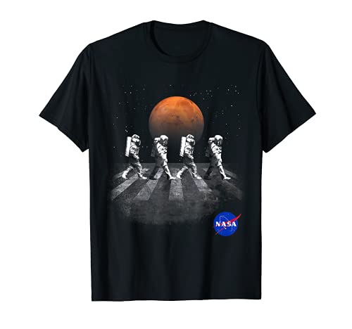 NASA T-Shirt Walking Astronauts in Space Mars