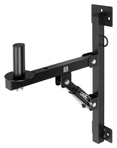 Pronomic WSM-1 PA Lautsprecher Wandhalterung für PA-und Hifi-Boxen (geeignet für Lautsprecher mit 35mm Flansch, 3-stufig verstellbarer Winkel, stabil, Metall) schwarz