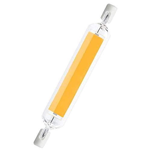 MJLXY 20W R7S LED Lampe 118Mm Birne Glas Rohr Halogen Lampe Licht R7S LED Dimmbare Ledscheinwerfer,Für Wand Tischbeleuchtung,1 STK,Warm White