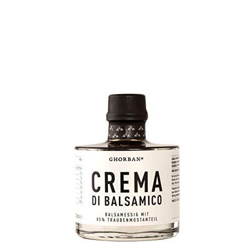 GHORBAN Crema di Balsamico (200ml) - Aceto Balsamico Creme ohne Zucker, Balsamico Essig Creme (85{c197871ce2f9bd0ec0eecb93f5236680d81fdff3982ef09c1adc679130e2cc9e} Traubenmost), echter Aceto Balsamico di Modena IGP, Balsamico dickflüssig & cremig