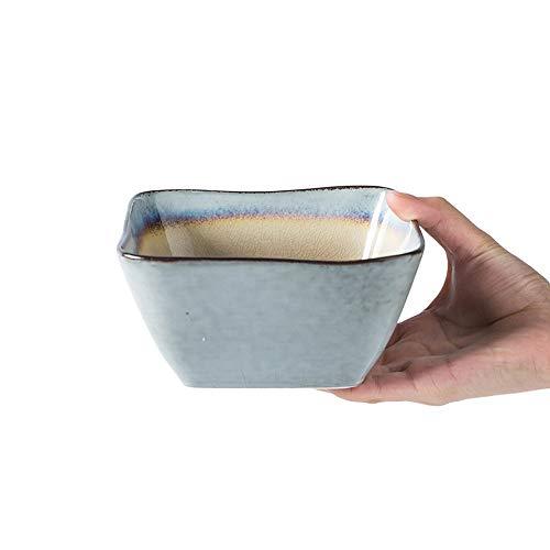 RKY Bol- Vaisselle en céramique créative Bol européen de bol rétro bol à salade bol bol à fruits bol carré - 3 couleurs /-/ (Couleur : Brown)