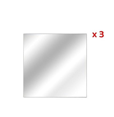 Fomax Espejos Adhesivos Cuadrados 20x 20cm–Set de 3Piezas
