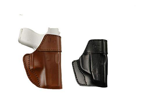 J&J Custom FIT KAHR CW9 OWB W/Belt Clip Formed Premium Leather Holster (Brown, Left)