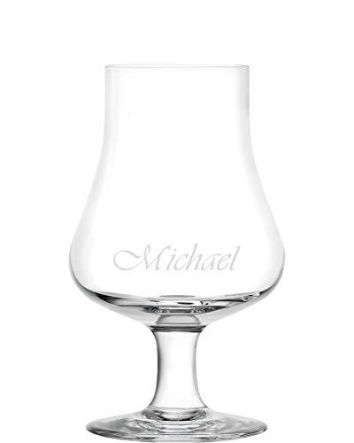 Whisky Glas, Nosing Glass von Stölzle im Geschenkkarton mit Namen graviert