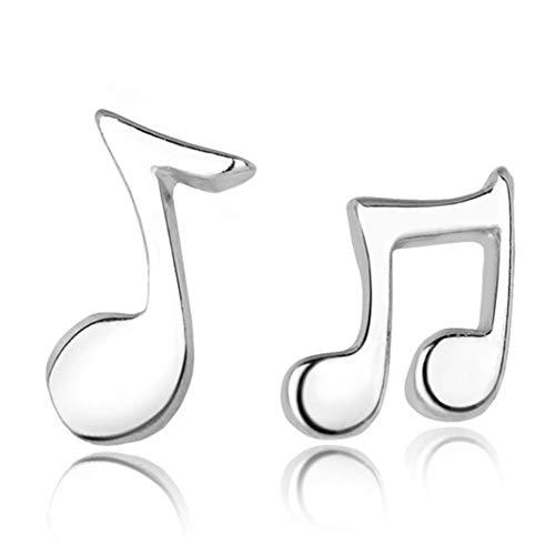 Chandler - Orecchini anallergici a forma di note musicali, alla moda, idea regalo per donne e ragazze