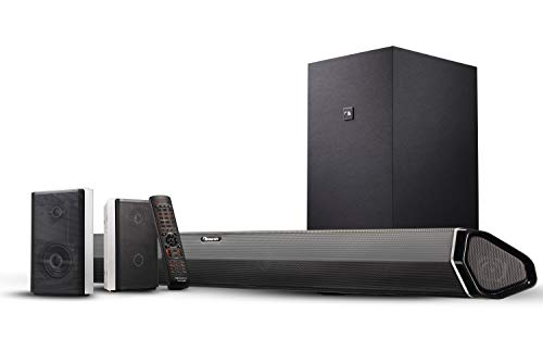 "Nakamichi Shockwafe Pro 7.1.4 Channel 600W Dolby Atmos Soundbar with 8"" Wireless Subwoofer, 2 Rear Surround Speakers. Experience True 360° Cinema Surround with This Plug and Play Home Theater System"