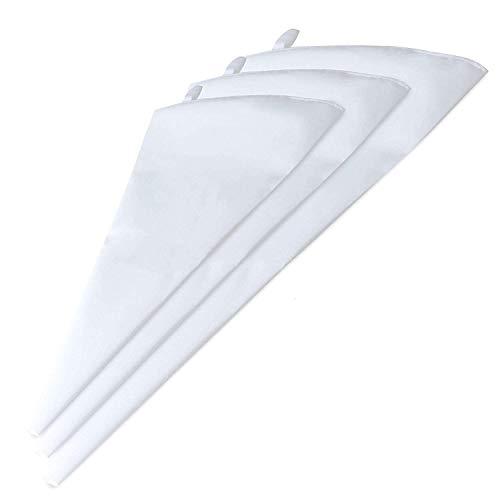 Faneli - Set di sac à poche da pasticciere professionali, 3 dimensioni, riutilizzabili, in silicone, per decorazioni, cupcake, muffin, matrimoni, torte