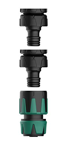 """Norjews Anschluss Satz, Wasserhahn Anschluss Set für 13mm (1/2\"""") und 15mm (5/8\"""") Gartenschläuche, Einfache Montage - 26.5mm (3/4\"""") & 21mm (1/2"""") Hahnverbinder"""