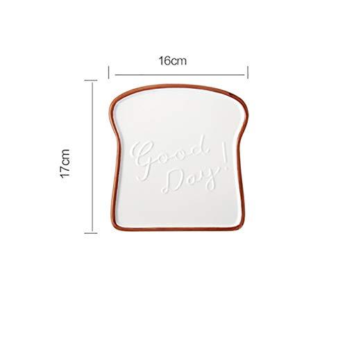 TZZD Crema Desayuno Placa Tostada Forma Comida Pan Postre Bandeja de Filete Pastel Fruta Plato para Bodas Cocina Cocina accesoriostiles (Color : Rosado)