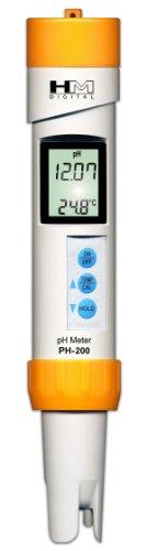 HMD PH-200 Digital Professional Waterproof 0-14 PH & Temperature Meter