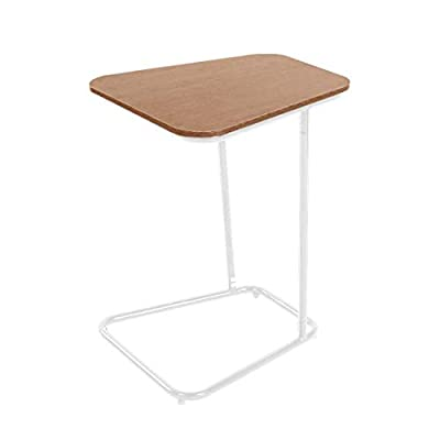 Mobile Laptop Table Height Adjustabl Sofa Side Table C-Shaped Office Desk Writing Table for Small Spaces Black