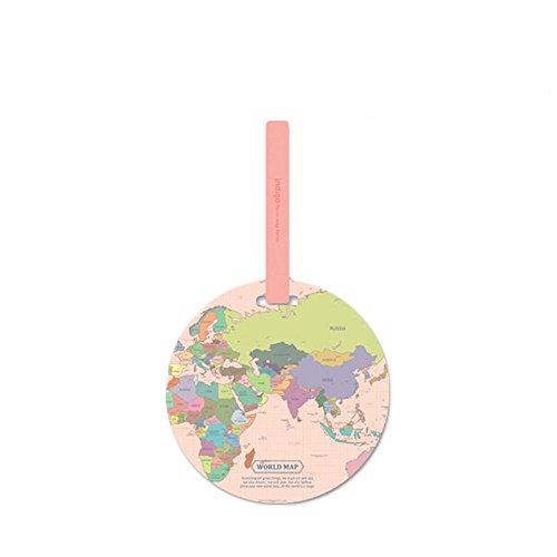 MAXGOODS Mappa Del Mondo Etichetta Del Bagaglio Nome Della Valigia Etichetta Del Indirizzo Etichetta Novità Accessori Da Viaggio Per Le Vacanze Nome Della Borsa Etichette Con Sottobicchieri.Rosa