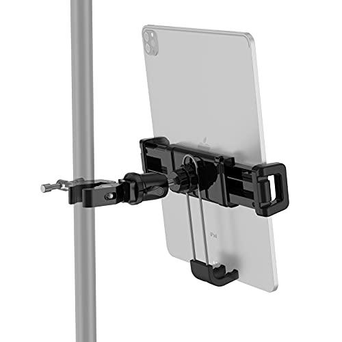 Smatree Abrazadera de Montaje para iPad, Soporte Giratorio de 360 Grados, Pinza de Cangrejo para Trípode/Cinta de correr/Bicicleta Estática/Soporte de Micrófono, Compatible con iPhone,iPad,Tableta