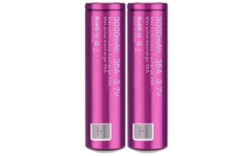 EFEST 3.5K mah 20A IMR Batteria singola piatta ad alto drenaggio (2 in un pacchetto) per Starter Kit sigaretta elettronica e MOD Senza Nicotina