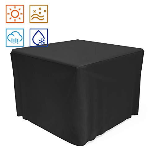 SHINESTAR 32 inch Square Fire Pit Cover, Heavy Duty Fabric with PVC Coating, Rainproof and...