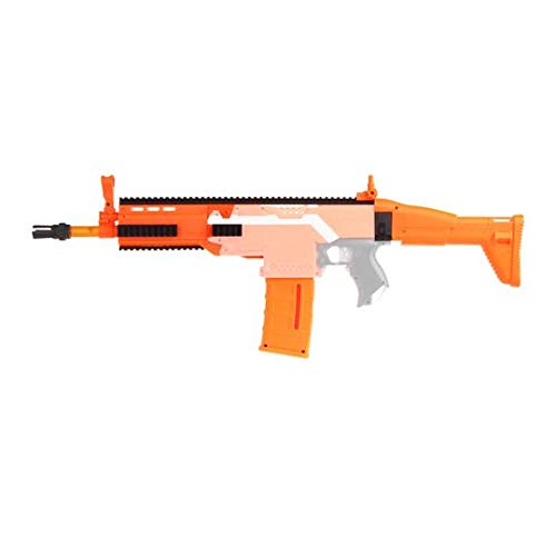Skywin Modification Kits Compatible with Nerf Stryfe Blaster Toy- Easy to Use Compatible with Worker Nerf, Mod Kit That Adds Design to Your Toy Blasters, FN Scar Look, Orange