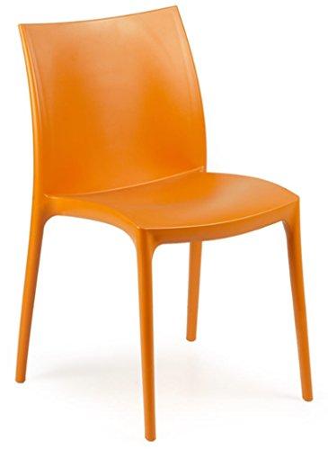 大徳商事 IPAE-PROGARDEN S.P.A イタリア製ガーデンチェア ZIP オレンジ