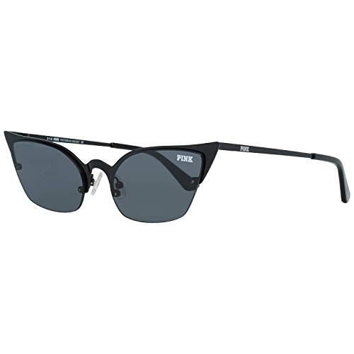 Victoria's Secret Gafas De Sol Rosa PK0016 01A 55 Mujeres Negro