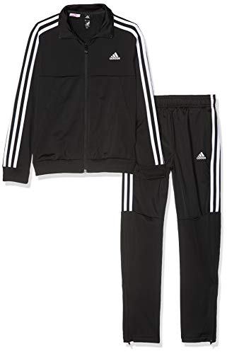 adidas Jungen Tiro Trainingsanzug, Top:Black Bottom:Black/White, 110
