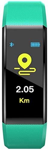 AMBM Reloj inteligente para hombre y mujer, monitor de ritmo cardíaco, presión arterial, podómetro, reloj deportivo para iOS Android + caja (color: púrpura) - verde