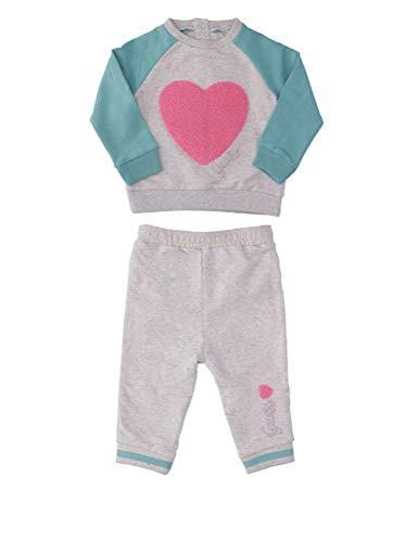 Guess Sweat+pantalon Bébé Fille A83g34 Crewneck Fleece + Pant Gris - Taille - 6/9m