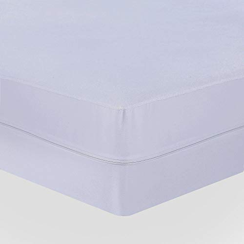 UMI. Essentials - Funda de colchón Impermeable con Cremallera, Algodón - Altura 20 cm (90x190+20cm