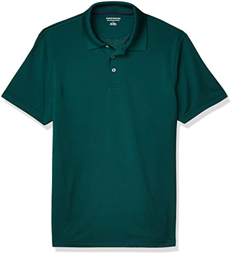 Amazon Essentials Polo de Golf de Secado rápido Shirts, Verde bosque, US M (EU M)