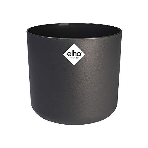 Elho B.for Soft Round Vaso, Nero, 25 cm