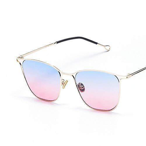 MJ Glasses Sonnenbrillen Netto rote kleine quadratische hohle Männer und Frauen, B