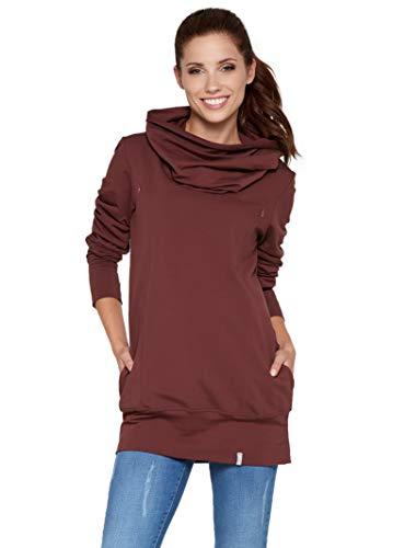 Be! Mama - 2in1 Stillpullover, Umstandspullover, Sweatshirt, Modell: Nella, rotbraun, Größe M