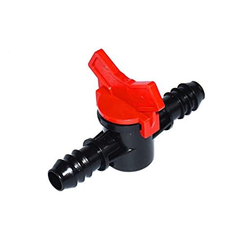 Manguera de jardín Connect Conecte rápido Conector de riego de dos vías Jardín Faucet Conector de grifo Faucet Válvula de riego Grifo de jardín 16 mm 20 PCS ( Color : Random , Diameter : 16 mm hose )