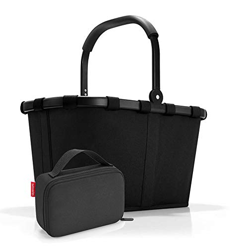 Set carrybag BK, thermocase OY, SBKOY Einkaufskorb mit Kleiner Kühltasche, Frame Black + Black (70407003)