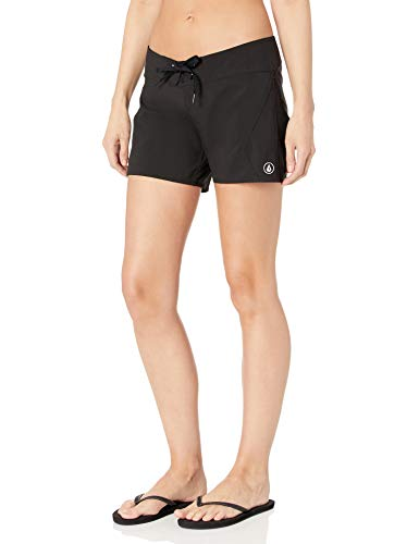 Volcom Women's Simply Solid 5 Inch Boardshort, Black, 7