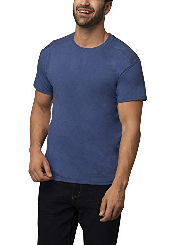 Fruit of the Loom Coolzone Crew - Playera para Hombre (2 Unidades), Jaspeado, (Scuba Heather), X-Large