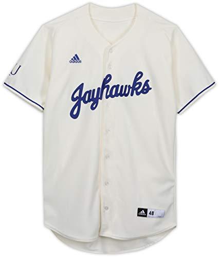 Kansas Jayhawks Team-Issued Cream Jersey from the Baseball Program - Size 48 - College Programs