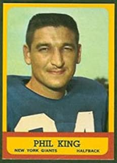 1963 Topps Regular (Football) Card# 52 Phil King of the New York Giants Ex Condition