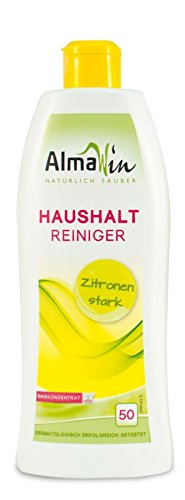 AlmaWin Haushaltsreiniger Zitrone 50 Anwendungen vegan, Eco Garantie, 3er Pack (3 x 500 ml)