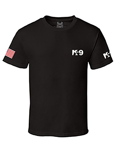 Gs-eagle Men's K-9 Police Graphic T-Shirt Small Black