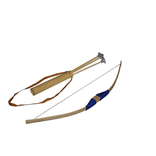 Juguetutto Pfeil und Bogen für Kinder, Pfeile mit Saugnapf, Blau, Spielzeug aus Holz