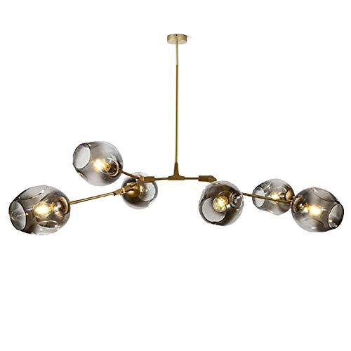 YEVZYDC Estilo simple Bola De Cristal Sputnik Lámpara De Araña Ajustable Rama...