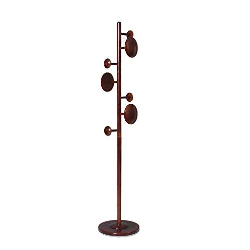 PIAOLING Perchero de pie Independiente Coat Rack Solid Wood Hanger Suelo Polo Single Poste Dormitorio Simple Hogar Ropa Vertical Rack Perchero Organizador de Perchero de pie (Color : B)