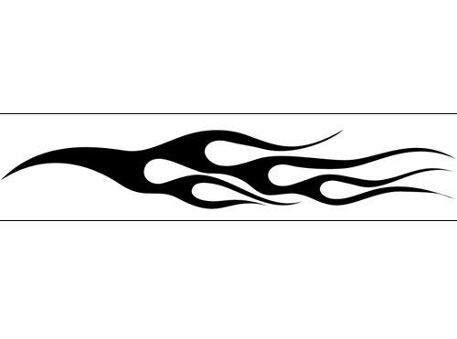 Airbrush Schablone Flammen C033